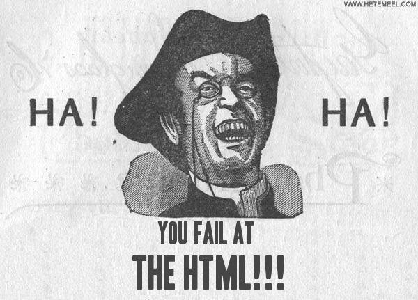 html fail