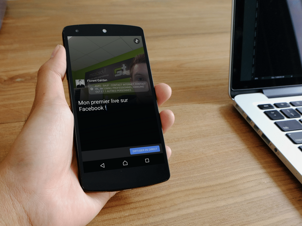 Facebook Live en direct sur Nexus 5