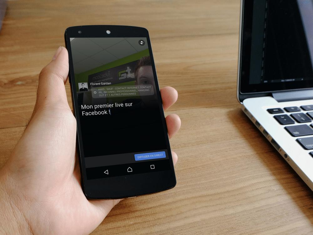 Facebook Live en direct sur Nexus 5