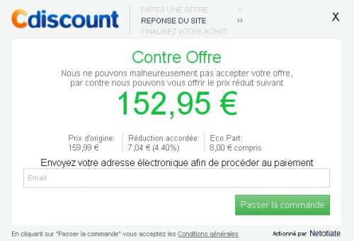 Négociation de prix sur Cdiscount #2