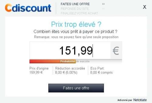 Négociation de prix sur Cdiscount #1