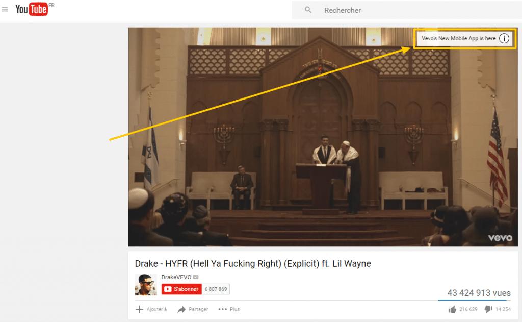 Overlay sur Youtube