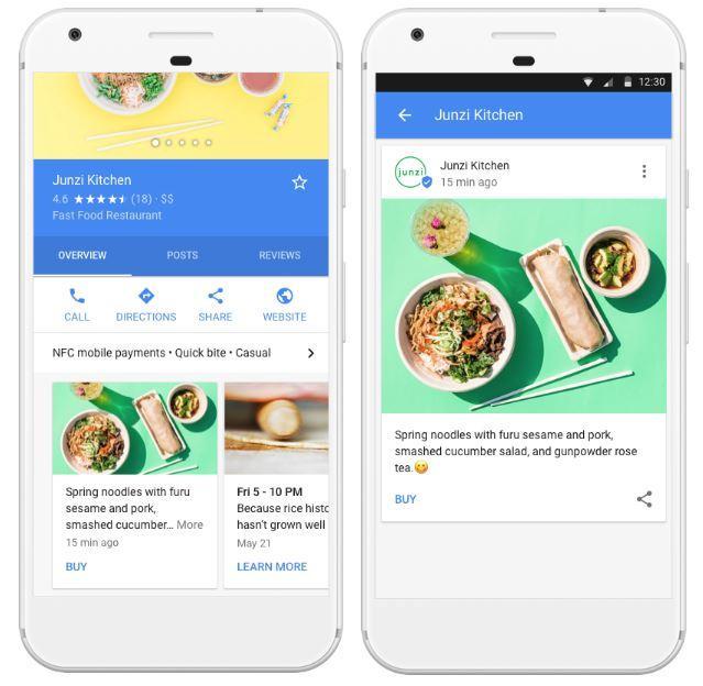google posts business entreprises locales