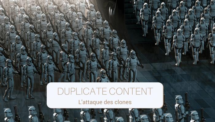 duplicate content, near duplicate et bonnes pratiques seo