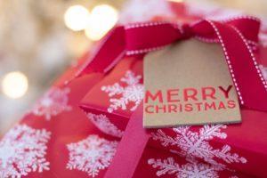 Cadeau de Noël emballés